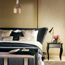 Bedroom Decor Ideas Feature Wall Decorating Black And Gold