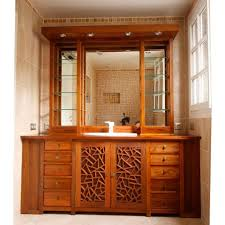 Teak Bathroom Shelving Unit by Free Standing Washbasin Cabinet Wooden Traditional Far Chi