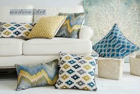 geometric decorative pillows for dark brown couch rhombus sofa
