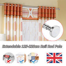 Twist And Fit Curtain Rod Uk by Telescopic Curtain Pole Ebay