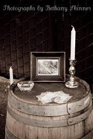 Wine barrel used for decorations at a 1920 s themed party