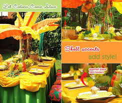 Bring The Caribbean Home For A Jamaican Inspired Engagement Party Decoration IdeasBridal