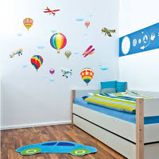 stickers chambre bebe garcon decoration stickers chambre bébé enfant montgolfières avions