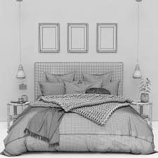 Pottery Barn Raleigh Bed by 3d Models Bed Raleigh Square Tall Storage Bed From Pottery Barn