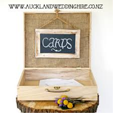 Wooden Box Gift Card Wishing Well Wedding Hire Auckland