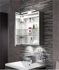 marvelous idea bathroom cabinet with lights and mirror recessed