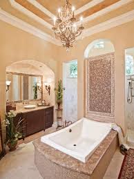 Chandelier Over Bathtub Soaking Tub by Bathroom Lighting Fixtures Hgtv