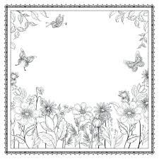 Flower Garden Coloring Pages For Adults Secret Pdf Inspirational Enchanted Forest Books Grown Full Size