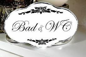 dekoration shabby schild vintage bad wc nostalgie weiß tafel