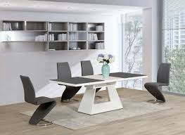 100 White Gloss Extending Dining Table And Chairs And Home Of Ideas