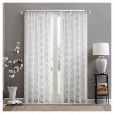 Target Gray Sheer Curtains by Clarissa Diamond Sheer Curtain Panel Target