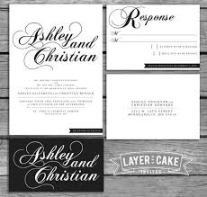 Items Similar To Classic Elegant Script Black White Wedding Invitation Set On Etsy