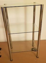 glasregal beistelltisch regal fürs bad wohnzimmer