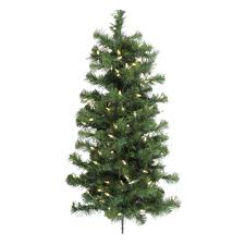 6ft Slim Christmas Tree by Flat Back Christmas Tree Wall Mounted Half Christmas Artificial To