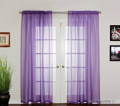 Sheer Voile Curtains Uk by Curtains Slot Top Voile Curtain Panel Terracotta Amazing Purple