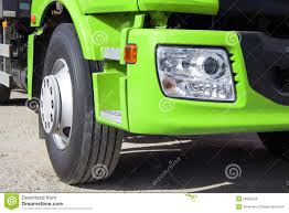 Green Truck With Big Wheels Stock Photo - Image Of Headlights ...