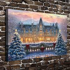 Thomas Kinkade Christmas Tree Cottage by Buy Thomas Kinkade Christmas And Get Free Shipping On Aliexpress Com