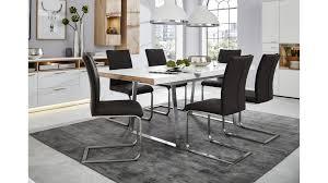 interliving wohnzimmer serie 2102 esstisch helles asteiche furnier weißer mattlack ca 160 x 90 cm