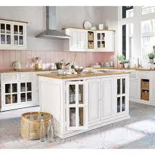 küchenunterschrank aus mangoholz für spülmaschine b70 elfenbein maisons du monde