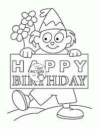 Nice Happy Birthday Card coloring page for kids holiday coloring pages printables free