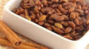 Roasted Shelled Pumpkin Seeds by Cinnamon Toast Pumpkin Seeds Recipe Allrecipes Com