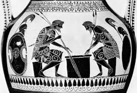 Pente Grammai Means Five Lines And Was An Ancient Greek Game It Has Been Suggested That This Is The Ajax Achilles Are Shown Playing On