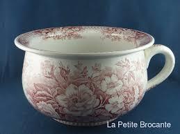 pot de chambre ancien ancien pot de chambre en faïence de sarreguemines modèle jardinière