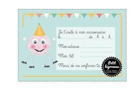 carte d invitation anniversaire basket