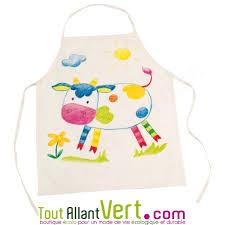 tablier de cuisine enfant goki tablier de cuisine enfant écru à personnaliser en coton