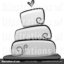 Royalty Free RF Wedding Cake Clipart Illustration by BNP Design Studio