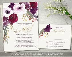 Boho Chic Wedding Invitation Printable Set Bohemian