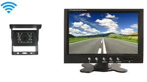 Rear View Monitor with a Wireless High Definition RV Backup