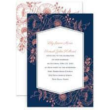 Blue Wedding Invitations Pretty Poppies Invitation