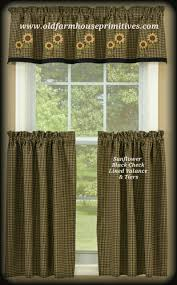 Primitive Living Room Curtains by Primitive Country Curtains