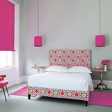 Grey Bedroom Ideas Hot Pink Accents Spotty Bed
