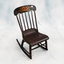 Antique (19th C) American Hand Painted Hitchcock Rocking Chair