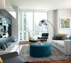 Armchairs Set Up Living Room Leather Chair Colorful Accents