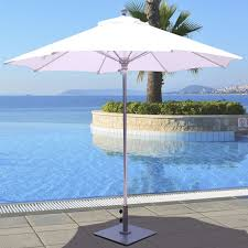 9 Ft Patio Market Umbrella by Galtech 9 Foot Commercial Aluminum Market Umbrella One Piece