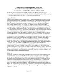 Collection solutions Letter Intent Sample to Graduate School