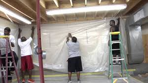 Removing Asbestos Floor Tiles Ontario by Building An Abatement Enclosure For Asbestos Lead Mold Or Dust
