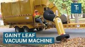 100 Leaf Vacuum Truck Industrial Sucks Up Thousands Of Leaves Per Minute YouTube