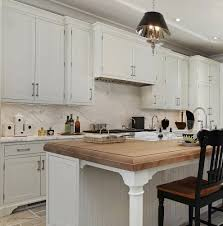 White Kitchen End Panels Country Designs Feature Spindle Island Legs