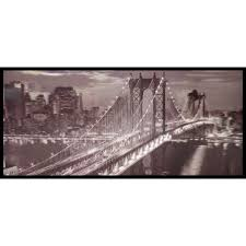 3D Wall Art Brooklyn Bridge New York Black White Framed Lenticular Picture 84 2513