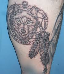Phenomenal Dream Catcher Tattoo On Leg Photo
