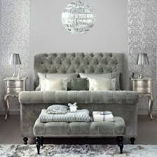 Grey And Silver Bedroom