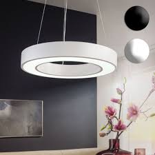 finebuy led deckenleuchte rund metall eek a büro deckenle 48 watt ø 60 cm design arbeitsplatz hängele 4080 lumen kaltweiß ohne schirm