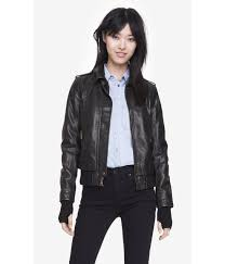 express leather jacket womens