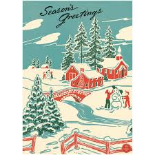 Christmas Snowmen Double Z Fold Card