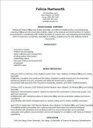 Medical Billing Resume 18 Samples For Techtrontechnologies Com