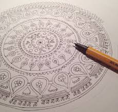Nother Way To Meditate On A Mandala Is Create Your Own By Drawing Colouring Or Painting Everything In The Design Specific And